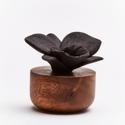 Orchidée du Népal | Perfume diffuser wood and black ceramic