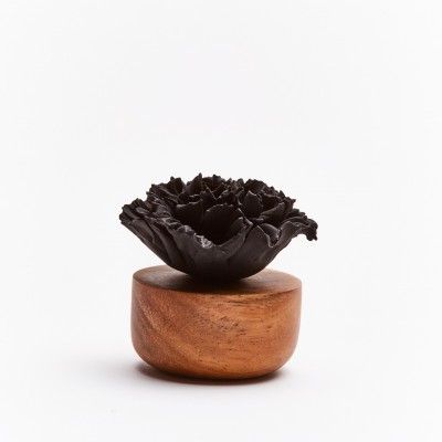 Œillet du Japon | Perfume diffuser wood and black ceramic