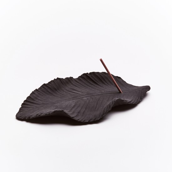 Incense holder- Black Leaf