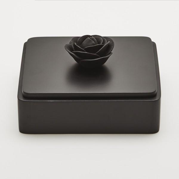 Black Rose   Decorative box with a black porcelain flower