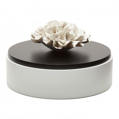 Iwa | Decorative box with a white ceramic flower