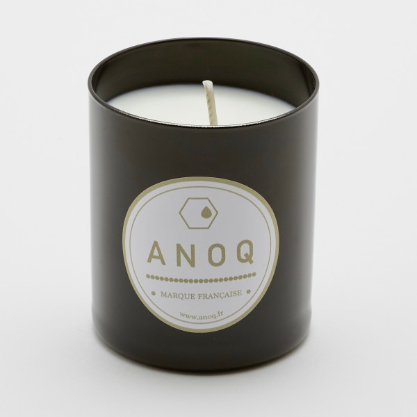 Black Amber   Scented Candle   180grs   Black lacquered glass