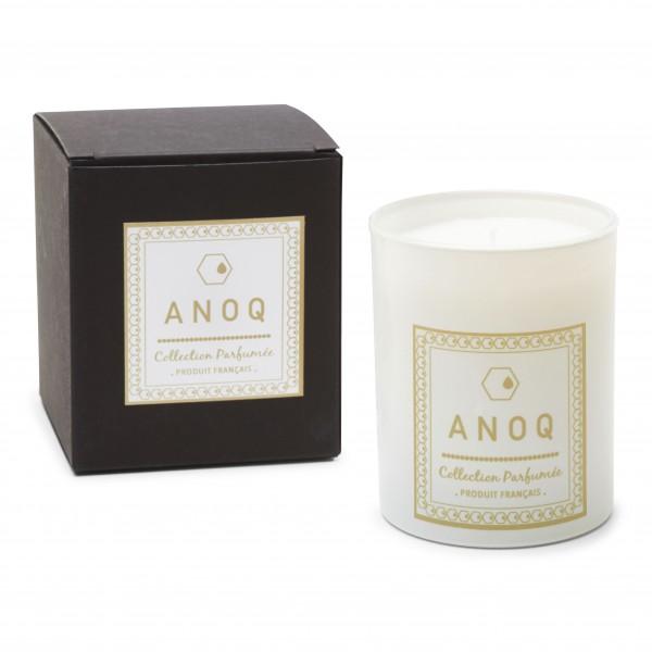 Bougie Parfumée Caresse Poudrée-180grs-Verre laqué blanc