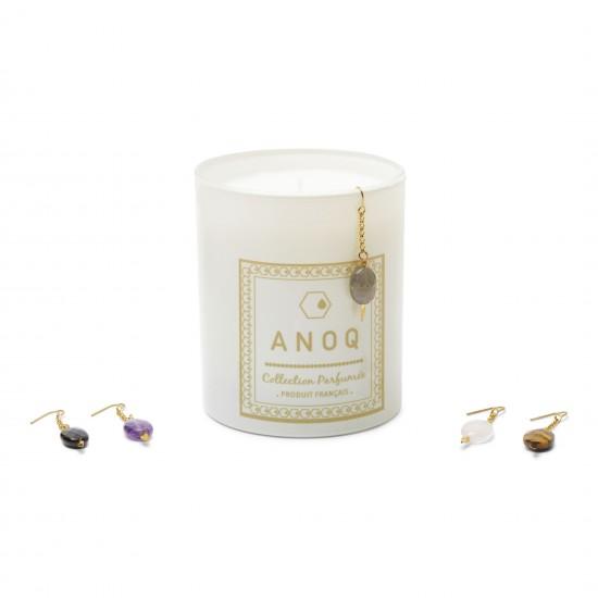 Bougie Parfumée Nature du Lin-180grs- Verre laqué blanc
