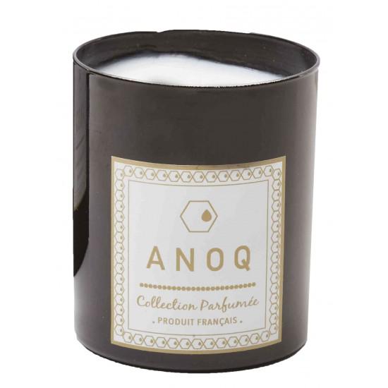Bougie Parfumée Nature du Lin-180grs-Verre laqué noir