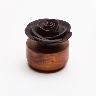 Gardenia du Laos | Perfume diffuser wood and black ceramic