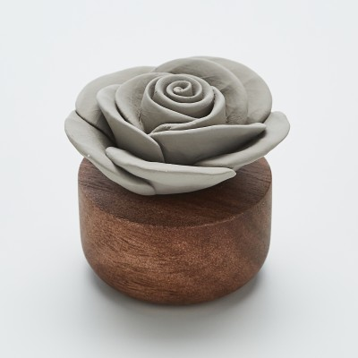 Gardenia du Laos | Perfume diffuser wood and grey ceramic