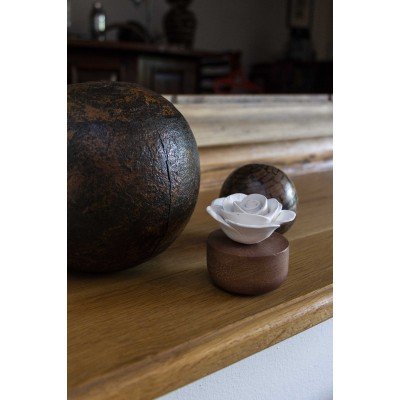 Gardenia du Laos | Perfume diffuser wood and white ceramic