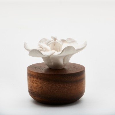 Jasmin d'Orient | Perfume diffuser wood and white ceramic