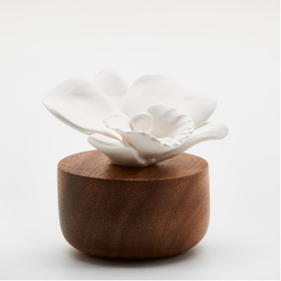 Orchidée du Népal | Perfume diffuser wood and white ceramic