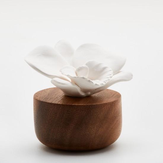 Orchidée du Népal | Perfume diffuser wood and white ceramic