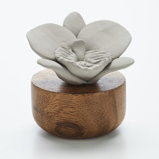 Orchidée du Népal | Perfume diffuser wood and grey ceramic