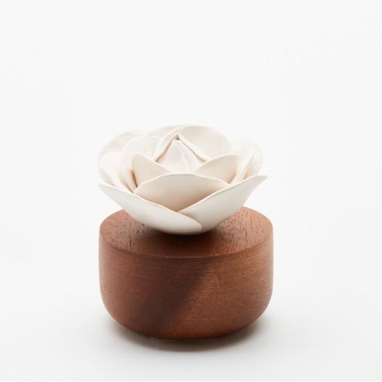 Rose du Bengale | Perfume diffuser wood and white ceramic