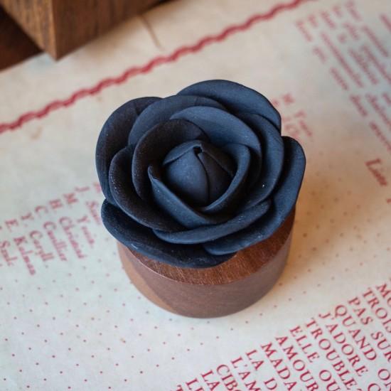 Rose du Bengale | Perfume diffuser wood and black ceramic