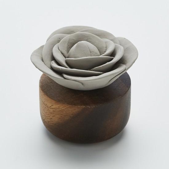 Rose du Bengale | Perfume diffuser wood and grey ceramic