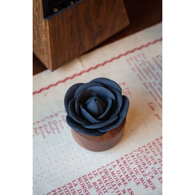 Rose du Bengale | Perfume diffuser wood and black ceramic